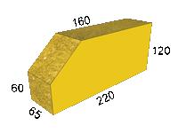 Кирпич 'мраморный' угол45