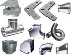 Metalwork for ventilating systems