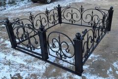 Ogradki welded on a cemetery