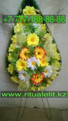 Wreaths mourning on a funeral