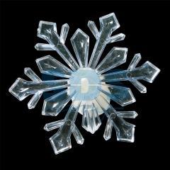 Figure Snowflake, light-emitting diode on a
