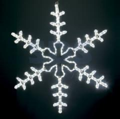 The figure a light Big Snowflake the White color,