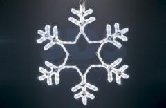 Figure a light Snowflake the White color, without