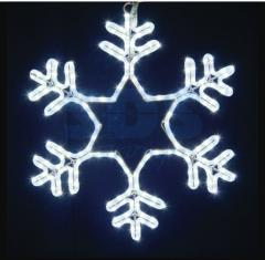 Figure light Snowflake White color, size of 55*55