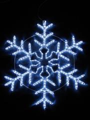 Figure light Snowflake White color, size of 95*95