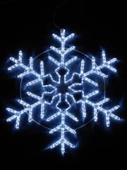 Figure the light Snowflake the White color, the