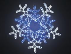 The figure a light Snowflake the White/blue color,