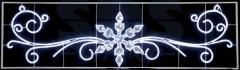 Figure a light Snowflake with laces the size