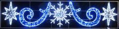 Figure a light Snowflake with stars the size