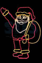 The figure Santa Claus with a bag of gifts, the