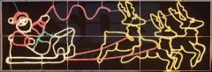 Figure light Deer carry Santa Claus on sledge the