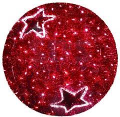 Figure Sphere, LED illumination to dia. 40 cm, Red