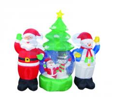 The inflatable 3D figure Father Frost and the