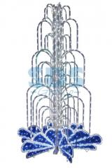 The LED fountain, height 4.0, diameter is 2.5