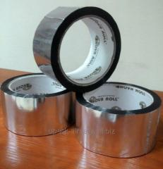 The adhesive tape metallized