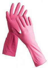 Перчатки из п/э пониженной плотности р/р L(№8)