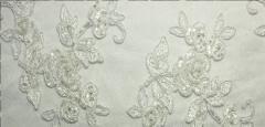 Fabrics wedding with the Swarovski crystals
