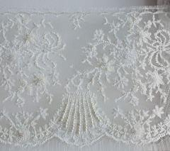 Fabrics wedding with paillettes