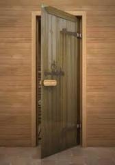 Doors for a sauna in assortmen