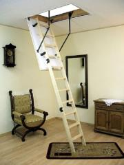 Ladders garret wooden