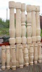 Columns wooden in assortmen