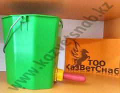 Bucket from plastic of production of the company