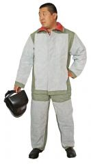The suit of the welder strengthened by spli
