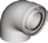 Flue coaxial aluminum Elsotherm branch koaks 90th