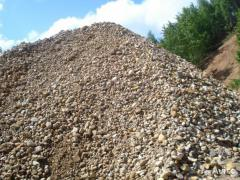 Sand-gravel mix, loose building materials
