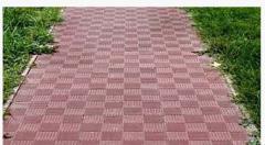 Тротуарная плитка Паркет красный