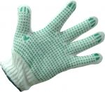 Knitted gloves with dot PVH covering WSH-102