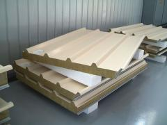Roofing sandwich panel