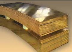 Semi-hard sheet L63 0,5х600х1500