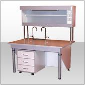 The furniture is laboratory, office and another