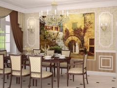 Fresco in an interior