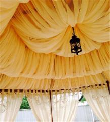 Tent on a summer arbor