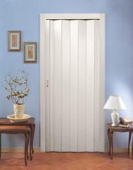 Раздвижные межкомнатные двери гармошка белый
