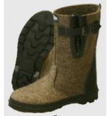 Footwear felt - boots YACHTING