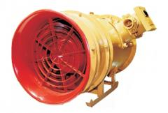 The mine fan with the electric VME-5 drive