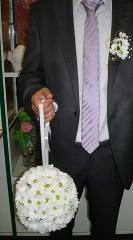 Букет невесты и бутоньерка.