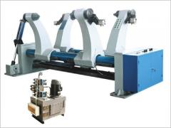 The equipment is hydraulic, rolling for reels, Hydraulic Mill Roll Stand, an element of the line of production of corrugated fibreboard, a corrugated cardboard, a gofrotara
