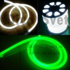 Fleks neon white, green. Flexible neon 220v. Cold