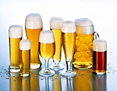 Beer glasses, Ware for beer, Beer glasses, the