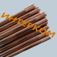 Grounding rods copperplated