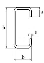 Стальной гнутый тонкостенный С-образный профиль