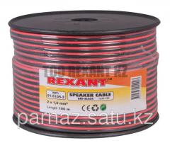 Cable of acoustic 2х1.0 mm2 100 m red-black Rexan