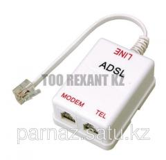 ADSL splitter with a wire