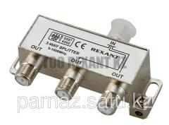 Divider of TV x 3 under F socket 5-1000 MHz of