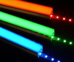 Лента светодиодная 12v лед  SMD 5050,  RGB ...