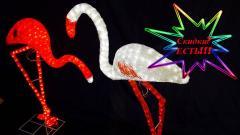 """Figures shining LED acrylic 3D """"Flamingos"""